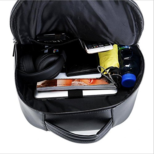Lh&Fh PU-Rucksack 3D Eule Computer Tasche Neutral Männer und Frauen Tasche gold