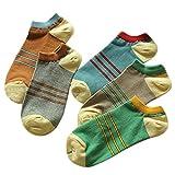 5 Pairs Of Socks Male Cotton Socks Absorb Sweat Socks Three Bars
