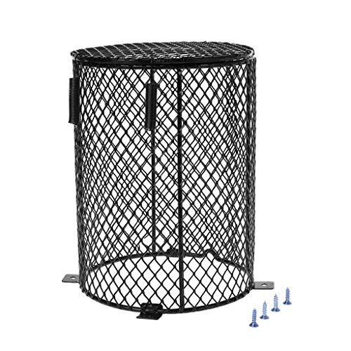 Reptile Heater Guard, Heating Bulb Lamp Enclosure Cage Protector Metal Mesh Lamp Cover,Lamp Shades