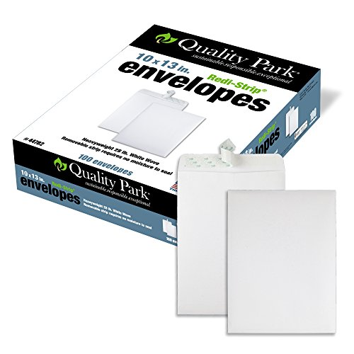 Quality Park Catalog Envelopes, 10 x 13 inches, Redi-Seal, 100 Count (44782) (White Self Sealing Catalog Envelopes)