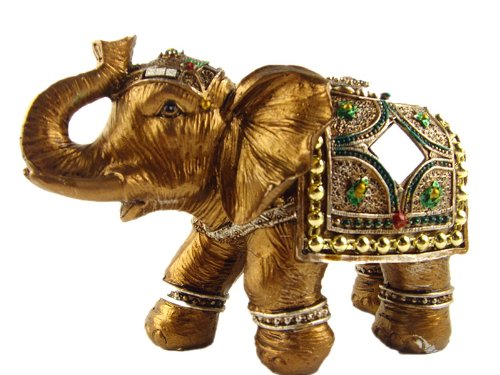 feng shui trunk up lucky elephant statue for good fortune 4 tall with a betterdecor logo gift. Black Bedroom Furniture Sets. Home Design Ideas
