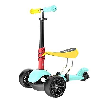 Patinete- Mini Niños Pequeños Kick Scooter Vistoso con 2 ...