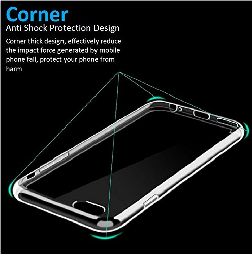 iPhone 6 Case, Shock Tech iPhone 6s Case 4.7 Inch Soft Transparent TPU Gel [Crystal Clear] [Slim Fit] [1mm Ultra Thin…