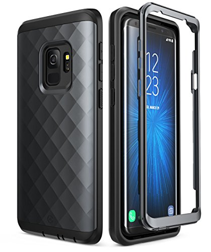 Samsung Galaxy S9 Case, Clayco [Hera Series] Full-body Rugged Case WITHOUT Screen Protector for Samsung Galaxy S9 (2018 Release) (Black)