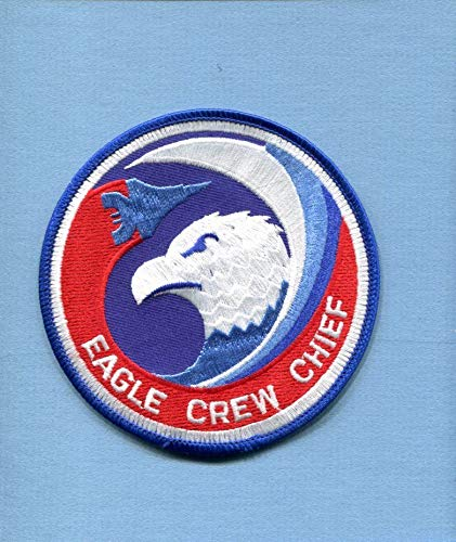 F15 Eagle Boeing - Embroidered Patch-Patches for Women Man- Boeing Mcdonnell F-15 Eagle Crew Chief