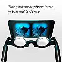 2VR - Blue - Virtual Reality Glasses - Thin Mobile Hands Free - 3D Glasses- For Smart Phones iPhone + Android from Stimuli VR