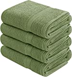Utopia Towels Cotton Hand Towels, 4 Pack Towels, 600 GSM, Sage Green