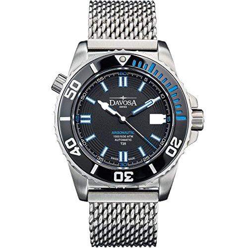 Davosa Swiss Made Men Automatic Wrist Watch, Professional Analog Argonuatic Lumis 16152040 with Constant Tritium Luminous