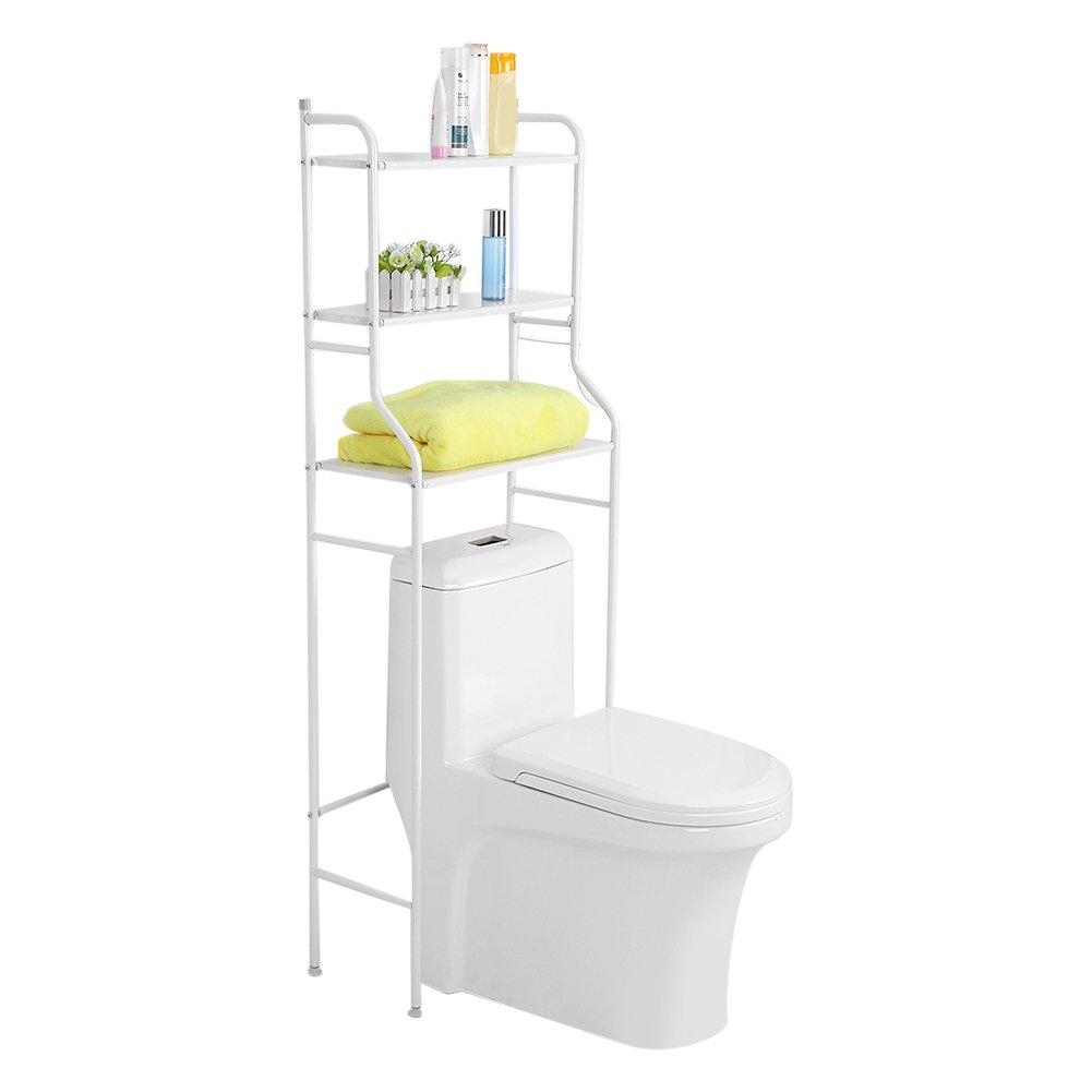 estanter/ía para toallas Estanter/ía de almacenamiento para inodoro de 3 niveles 56 x 25 x 151 cm estantes de hierro que ahorran espacio en el ba/ño organizador para la colada en el hogar