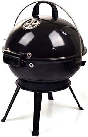 Émail Pliable Barbecue Au Charbon Grill Avec Couvercle