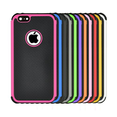 Phone Taschen & Schalen Fußball Textur Kunststoff Fall für iPhone 6 Plus & 6S Plus ( Color : Orange )