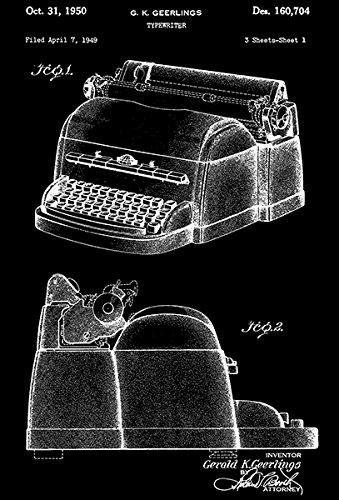 1950 - Typewriter - G. K. Geerlings - Patent Art Poster