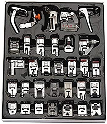 Piezas de Prensatelas para Máquinas de Coser, Accesorios de Máquina de Coser Profesionales Duraderos Hogar - 32 Pcs: Amazon.es: Hogar
