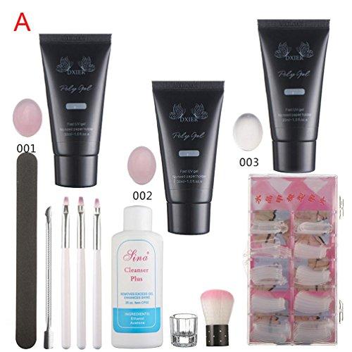Amazon.com : Womens Rosa Nail Gel Tips Extension Set, Hot Sale Iuhan Rosa Nail Gel Tips Extension Camouflage Builder Gel Lack Glue Nail Extension Set (D) : ...