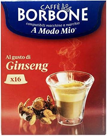 16 Capsule Caffè Borbone ginseng compatibili A Modo Mio ®