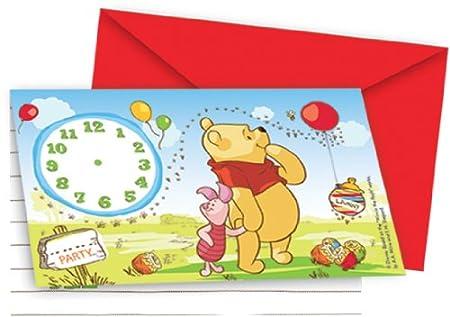 Amscan Tarjeta De Invitación Con Diseño De Winnie The Pooh