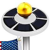 OpenuyeSolar Flag Pole Lights 26 LED Weatherproof Flagpole Downlight Lightfor Most 15 to