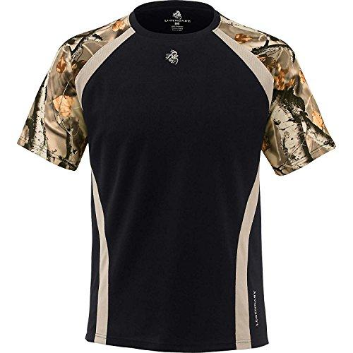 Legendary Whitetails Men's Counter Strike Performance Camo T-Shirt Black - Black Camoflauge