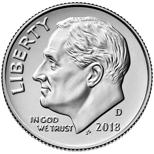 2018 D BU Roosevelt Dime Choice Uncirculated US Mint