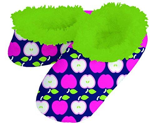 Les Femmes Confortable Douillet Doux Gras Et Beau Snoozies Ballerines Pantoufles Apple