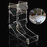 ZHCHL DIY Funny Mini Gaming Dice Tower Clear Transparency Prism Dice Tower Bar Tool