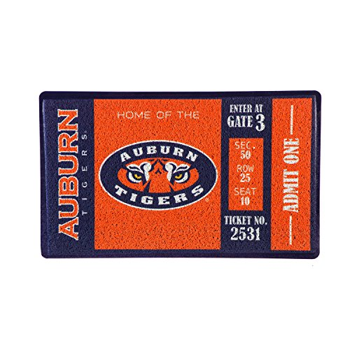 Team Sports America Auburn University Recyclable PVC Vinyl Indoor/Outdoor Weather-Resistant Team Logo Door Turf Mat (Auburn Tigers Door Mat)