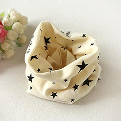 Beige Koly Autumn Winter Baby Girl Boy Collar Scarf Cotton O Ring Neckerchief Scarves