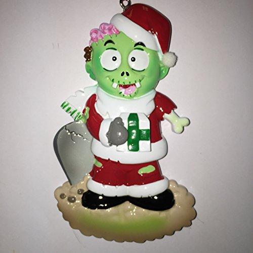 (Zombie Personalized Christmas Tree Ornament by Polar X)