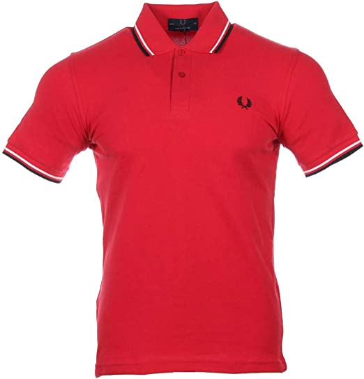 Fred Perry - Polo M12, Color Menta, Negro y Azul Marino Rojo 42 ...
