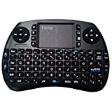 Image of Mini Wireless Keyboard LESHP Multifunctional Computer Table PC Hand-held Portable Bluetooth Keyboard 21S Touchpad Keyboard 3.3V(Black)