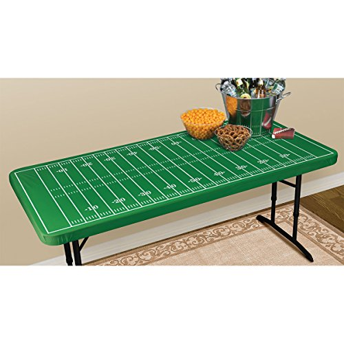 Sports 'Football Field' Plastic Table Cover w/ Elastic Edge ()