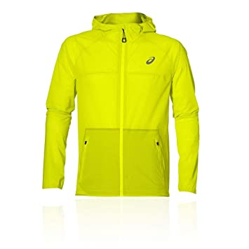 ASICS Waterproof Chaqueta Impermeable, Hombre, Amarillo (Safety Yellow), XS: Amazon.es: Deportes y aire libre