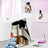DayDayFun Bath Towels Set Kabuki Mask Highly