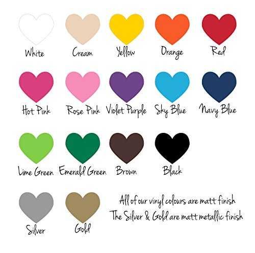 (Vinyl Color Swatch Samples for Color Matching Fabulous Wall Art Stickers. 16 color options)