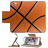 Luxlady Premium Apple iPhone 6 Plus iPhone 6S Plus Flip Pu Leather Wallet Case iPhone6 Plus IMAGE ID 1978536 Basketball pattern
