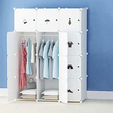 Regalsystem Kleiderschrank Kunststoff Portable Regalsystem Kleiderschrank Kunststoff Garderobenschrank Garderobenschrank Portable 8nkOw0P