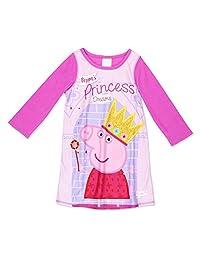 Peppa Pig Girls Reversible Dorm Nightgown Pajamas (Toddler)