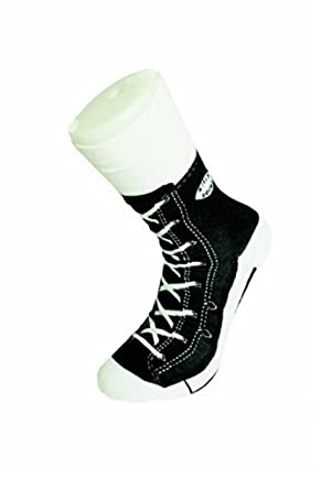 90dab0bcb0c3 Mens Socks Silly Converse Novelty Sneakers Trainer Cotton Size 5 11 Joke  Fun (5-11