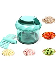 Edofiy Manual Food Chopper/Blender/Mincer/Mixer For Fruits Vegetables Nuts Egg Meat With Big Mixing Blade