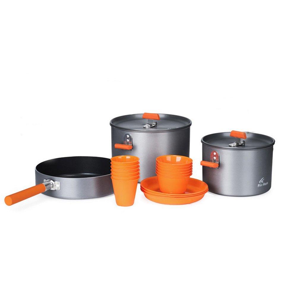 Topqsc Kochtopfset 6 Spiele im Freien tragbaren gemeinsamen arroceras Töpfe Topf Kochtöpfe, Küche für Camping