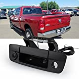 Tailgate Handle Backup Camera, CAR ROVER Reverse Reversing Rear View Cameras for Dodge Ram 2009-2017 (Black, 1 Pack)
