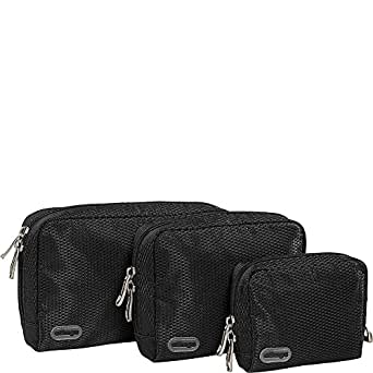 eBags Padded Pouches - 3 pc Set (Black)