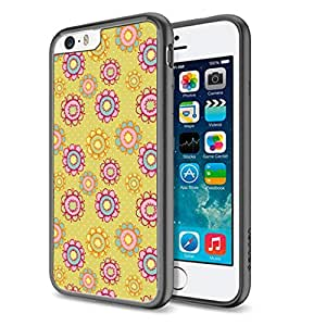 Flower Art Pattern - Apple iPhone 6 Black Cover Case