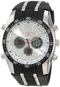 U.S. Polo Assn. Sport Men's US9061 Black Rubber Strap Watch