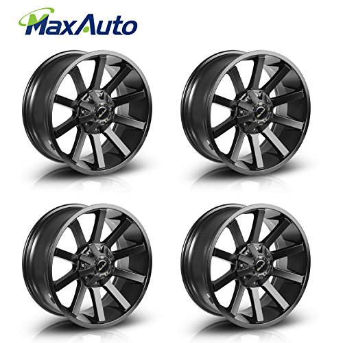 MaxAuto 4 pcs (1 set) 20x9, 6x135, 87, 12, Matte Black Rims Alloy Wheels Compatible with Ford F-150 2004 2005 2006 2007 2008 2009 2010 2011 2012 2013 2014 2015 2016/Lincoln Mark LT 2006 2007 2008