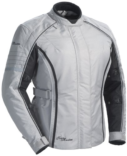 Textile Rocket Suzuki Joe (Tour Master Trinity Series 3 Women's Textile Sports Bike Racing Motorcycle Jacket - Silver / Large)