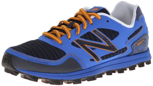 Ny Balans Mens Mt00 Minimus Noll V2 Trail Löparskor Blå / Orange