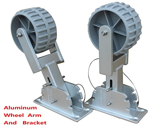Brocraft Deluxe Flip-Up Dinghy Wheels, Marine Grade Aluminum Bracket With 4 Wheel Arm Positions, Fit Dinghy, Inflatable, Aluminum, RIB Boat by Brocraft