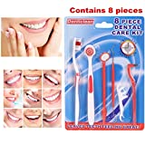 8PCS Professional Products Teeth Cleaning Kit Daily Interdental Brush Tooth Flossing Head Oral Dental Hygiene Brush Tooth Cleaning Tool Tooth Cleaning Tool