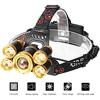 Super Bright Led Headlamp 8000 Lm 5 Led Super Bright